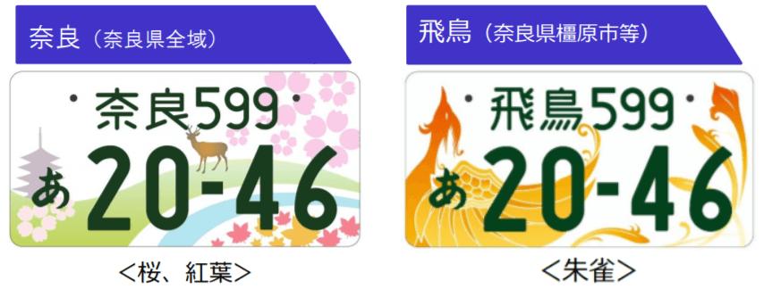 奈良県版ご当地ナンバープレート